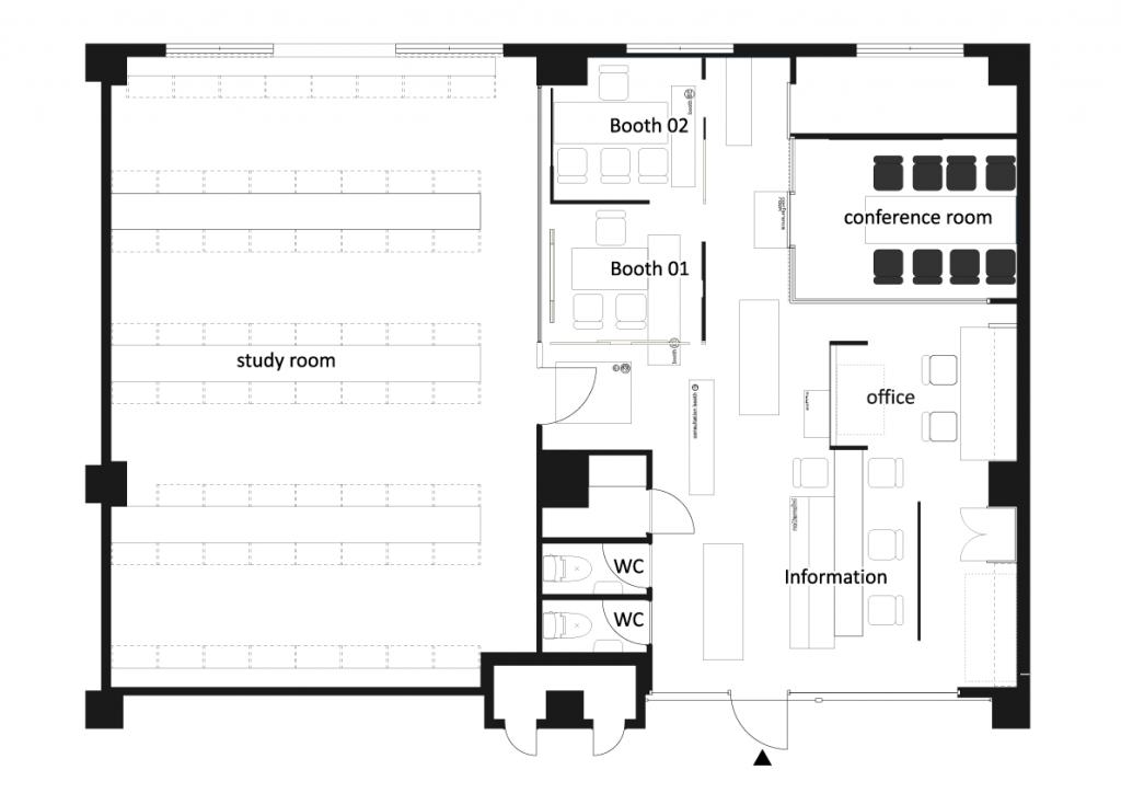 予備校の建築設計図