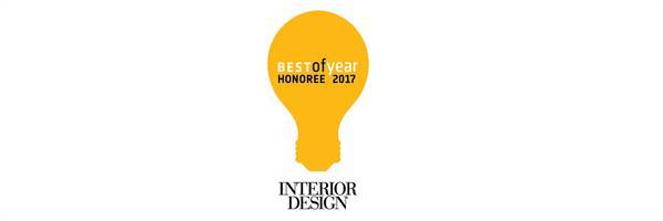 ニューヨークの空間デザイン誌 Interior Designの Best Of Year Awards 2017 Honoree を受賞しました。